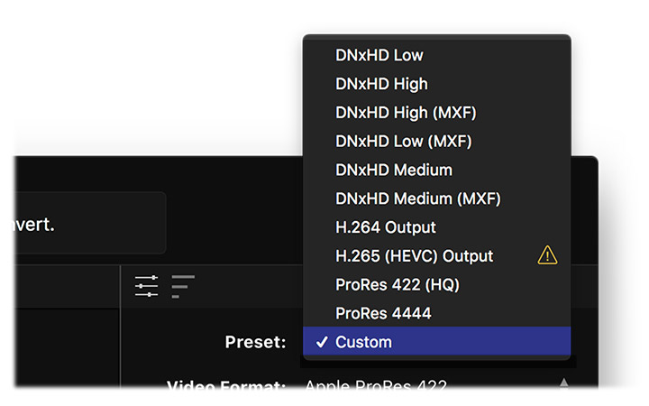 Missing HEVC icon