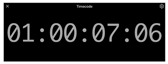 Timecode readout display