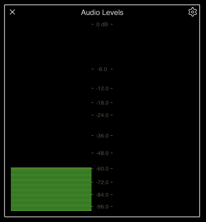 The Audio Meter Palette