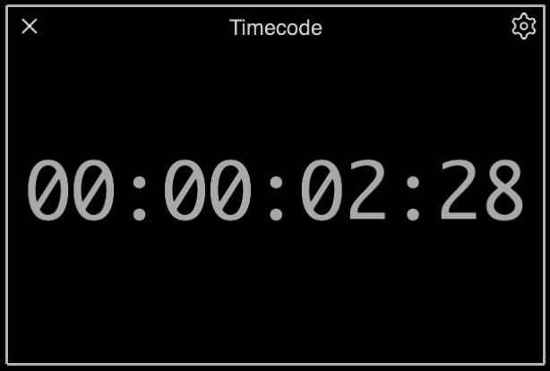 The Timecode Palette